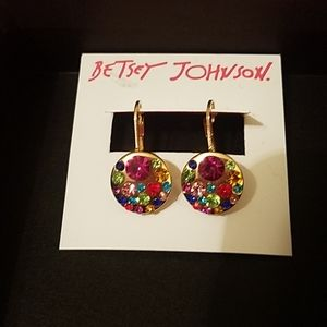 Betsey Johnson gem earrings NWT